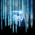 Global binary code — Stock Photo