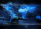 Global code background — Stock Photo