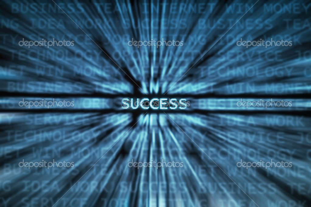 Success word shown in a business words mix background — Stock Photo #2769296