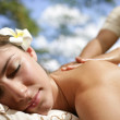 Outdoor Spa — Stock Photo