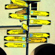 Stock Photo: Signposts