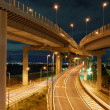 Night highways - Stock Photo