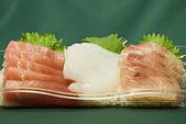 Japanese raw fish slices — Stock Photo