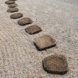 Japanese stone way — Stock Photo
