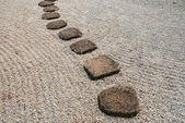 Japanese stone way — Stock Photo