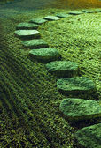 Zen stone path — Stock Photo