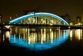 мост ночью — Стоковое фото