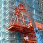 Industrial construction crane — Stock Photo