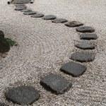 japoński kamień w ogrodzie — Zdjęcie stockowe