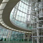 Futuristic building interior — Stock Photo
