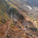 Mineral mining area — Stock Photo