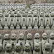 Japanse jizo sculpturen — Stockfoto