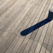 Wooden deck background - Stock Photo