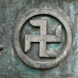 Buddhist cross symbol — Stock Photo