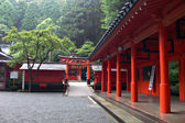 Japanese temple's inner yard — Stock Photo