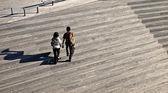 Twee volkeren wandelen — Stockfoto