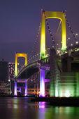 Tokyo Rainbow bridge vertical — Stock Photo