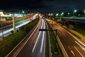 Night highway — Stock Photo