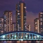 noc Tokio — Zdjęcie stockowe