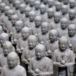 Japanese jizo sculptures — Foto Stock