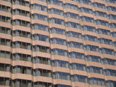 Brown Glass Windows of Office Building — Stock Photo