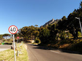 Road on Table mountain (Cape Town) — Stock Photo