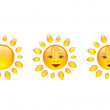Stock Vector: Sun smile