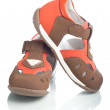 Kids leather shoes. — Stock Photo