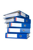Pile of blue ring binders. — Stock Photo