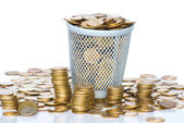 Heap of Soviet Union coins in canister. — Stock Photo