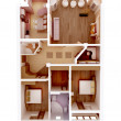 3d apartment floor plan. Top view. - Stock Photo