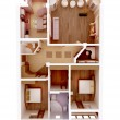 3d apartment floor plan. Top view. - Stok fotoğraf