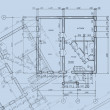 CAD Architectural Plan Drawing — Stock Photo
