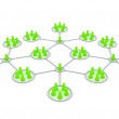 Network 3d Affiliation. Green icons. - Stock Photo