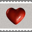Nonexistent Postal Stamp - Stok fotoraf
