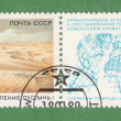 Anti desertification campaign stamp - Stock Photo