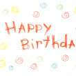 Happy Birthday! Card Pensil Handmade — Stock Photo