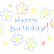 Stock Photo: Happy Birthday! Card Pensil Handmade