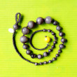 Spiral Beads Jewelery on green — Stock Photo