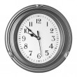 Stock Photo: Wall clock isolated on white