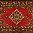 Red Ornate Traditional Carpet Texture — Stock Photo