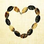 Agate gem stone heart Frame border — Stock Photo