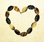 Agate gem stone heart Frame border — Stock Photo