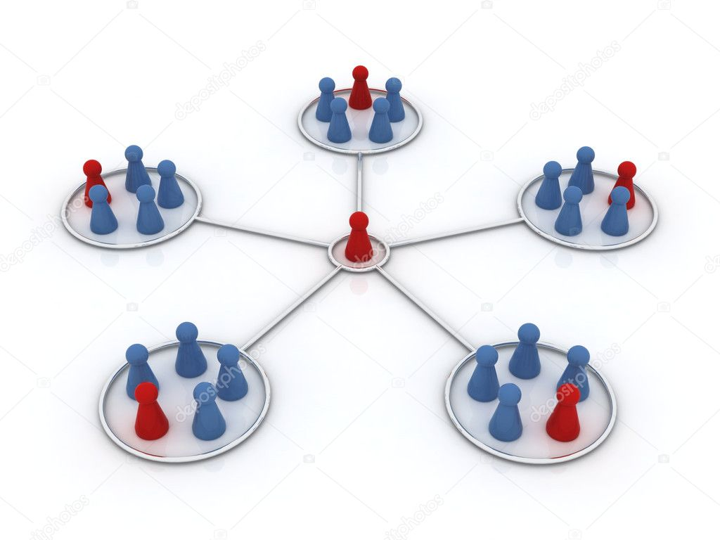 Network illustration. Affiliation.  — Stock Photo #2853349