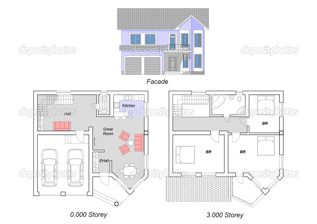 House Floor Plans with Great Rooms
