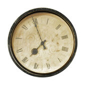 Old Clocks on white background. — Stock Photo