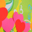 Abstract simple love heart background. Paper cutout. — Stock Photo
