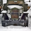 Old truck under snow — Stock Photo