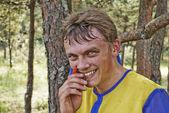 The smiling sportsman — Stock Photo