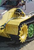 Closeup caterpillar vehicle — Stock Photo